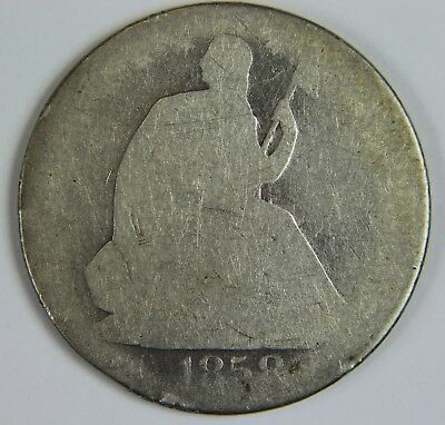 1858-O Seated Liberty 90% Silver Half Dollar 50c NR Free Ship U056