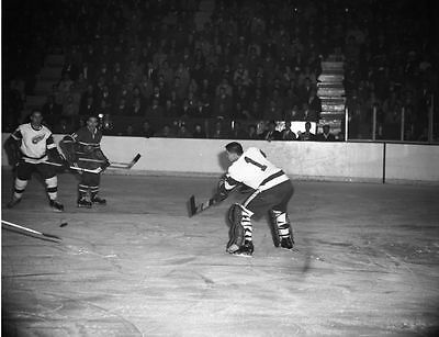 Marcel Bonin, Terry Sawchuk Montreal Detroit Game Auction  8x10 Photo