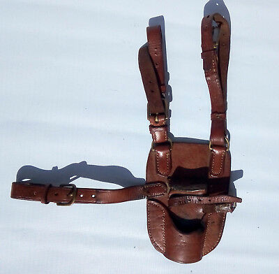 WWI-WWII Military Original Cavalry officer sword/sable leather saddle hanger.