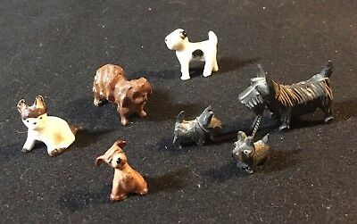 Group of Five Vintage tiny Dog Figurines
