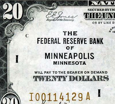 HGR SATURDAY 1929 $20 FRBN ((Minneapolis)) Appears GEM UNCIRCULATED