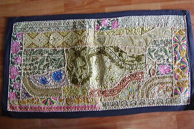 Rare Old Very Fine Sequins Dress Pach Work Handembroided Wall Hanging Tapestry