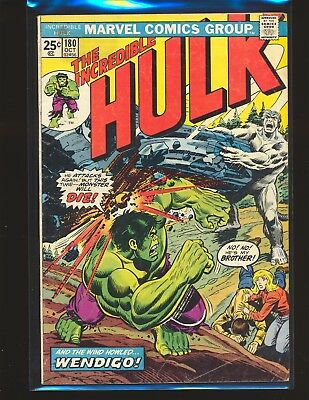 Incredible Hulk # 180 Marvel Value Stamp intact - 1st Wolverine cameo VG Cond.
