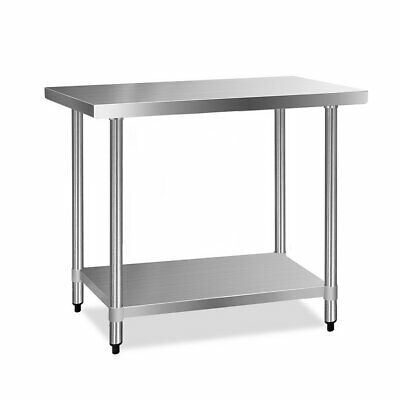 Stainless Steel Kitchen Work Bench Table BBQ Indoor Outdoor 430 Food NEW 1219mm