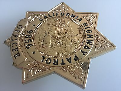 California Highway Patrol Officer Police Badge Filmrequisite