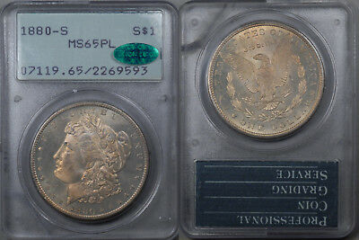 1880-S Morgan $1 Dollar PCGS MS-65PL CAC 1ST GEN RATTLER OGH PQ PROOF LIKE