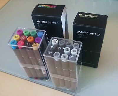 Stylefile Marker 2x 12er Set