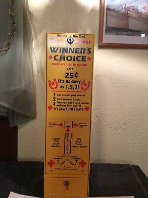 Vintage RARE RAMM WINNERS CHOICE LOTTERY NUMBER VENDING MACHINE OUTSTANDING COND