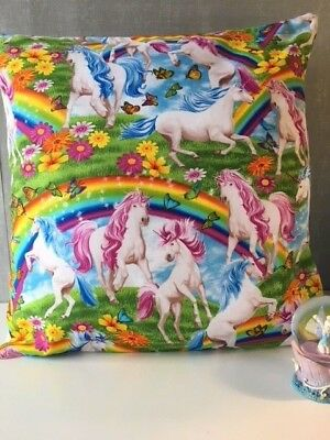 "SALE! Beautiful Mythical Unicorns 16"" x 16"" Cushion Cover"