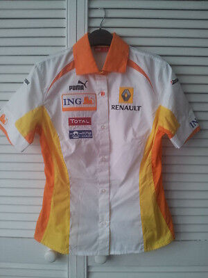 PUMA Formula One F1 Renault Rare Authentic Female Fit Shirt  SIZE 10 NEW