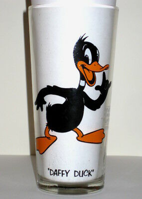 Vintage Warner Brothers 1973 Collector Series Pepsi Promo Glass - DAFFY DUCK