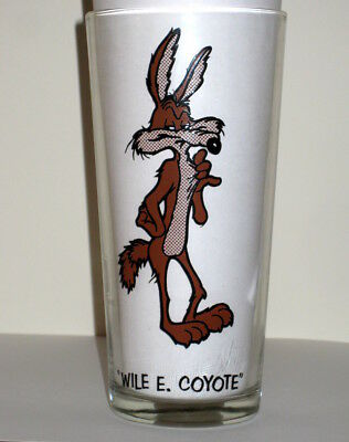 Vintage Warner Brothers 1973 Collector Series Pepsi Promo Glass - WILE E. COYOTE