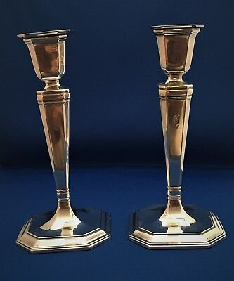 Pair of Antique Tiffany & Co. Sterling Candlesticks - 1915