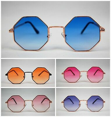 Octagon vintage Hexagon retro  Hippy Festival Alternative Style Sunglasses UK