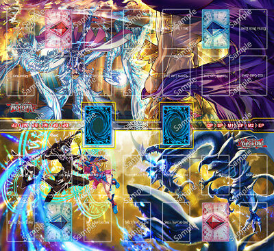 Design by Jimmy Yugioh 2 Player Two Player Playmat Custom Made Play Mat #004