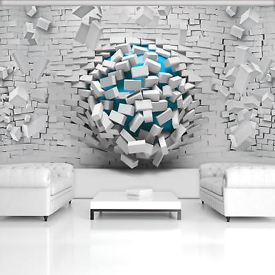 Photo Wallpaper Mural 20133 P 3d Blue Ball And White