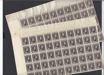 CAN 011 LUXEMBOURG - Marie-Adelaide 25C overprint on 37.5C complete sheets x 2