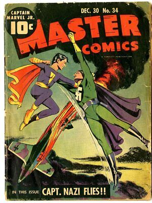 Master Comics #34 G 2.0  complete  Captain Marvel Jr.  Fawcett  1942  No Reserve