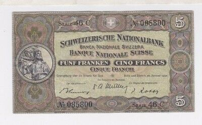 Switzerland - Schweizerische Nationalbank  5 Franken Francs P11