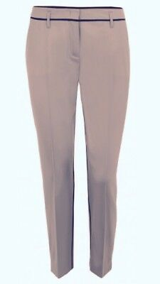 Dorothee Schumacher schmale Chino Hose Wolle Stretch Audrey Pants Nude Rose 4 40