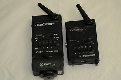 Quantum FW9T Transmitter, FW12 hot-shoe adapter and FW10 Transceiver