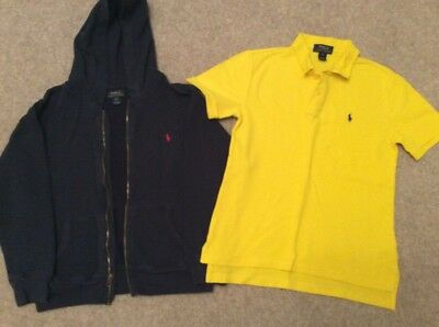 Ralph Lauren Boys Bundle Hoodie Polo Medium Boys Age 10-12