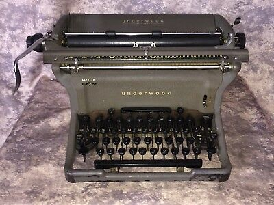 Vintage Underwood SS Typewriter 1949 S/N 12-6779470 Working