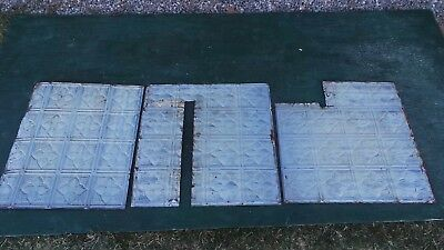 Antique 3 Tin Ceiling Tile Measures  24x24 and 24x22