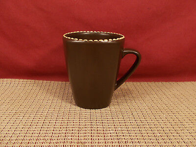 Mario Batali Dinnerware Italian Stitch Brown Mug 4""
