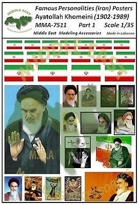 1/35 Diorama Posters Ayatollah Khomeini (1902-1989) - (3 designs to select from)
