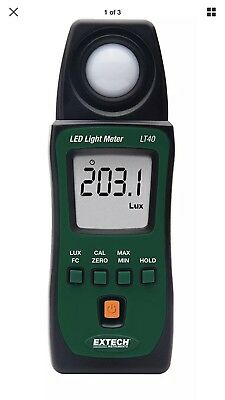 Extech LT40 LED Light Meter with carry case