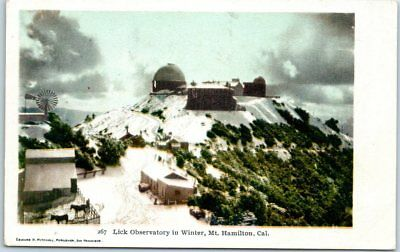"San Jose, California Postcard ""Lick Observatory in Winter, Mt. Hamilton"" c1900s"