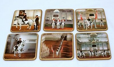 Vintage Lipizzan Horse Coasters Spanish Dressage Movements Real Photo