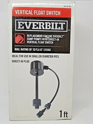 New in box Everbilt Vertical Float Switch EVS10D1801BC Free Shipping
