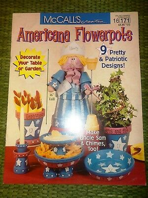 Mccall's Creates 16171 Americana Flowerpots 9 Patriotic Des Uncle Sam July 4Th