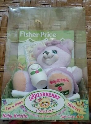 """1999 Fisher Price"""" Briarberry Collection"""" Baby Kristin Bear"""