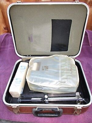 Vintage Stenograph Reporter Model Shorthand Machine W/ Tripod And Case Excellent