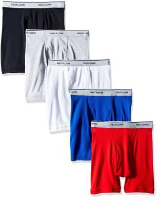 Fruit of the Loom Boys' Boxer Brief Exposed and Covered Waistband (Pack of 5)