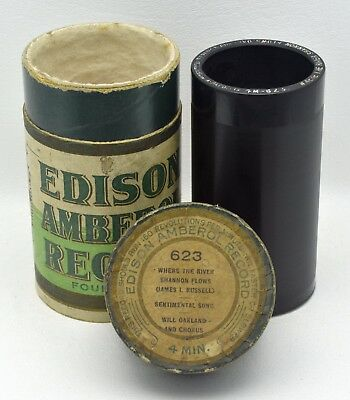 """Edison 4 Minute Amberol #623 """"Where The River Shannon Flows"""""""