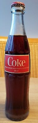 Coca Cola glass bottle from djibouti africa. ACL Bottle. FULL good condition