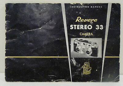 Revere Stereo 33 Camera Instruction Manual Booklet