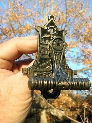 Vintage Old Antique Ornate Iron Door Pull Handle