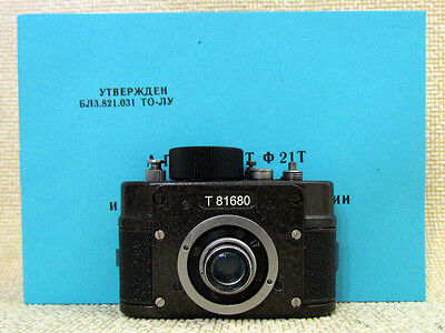 AJAX F-21 KMZ Vintage USSR Soviet KGB SPY Film 21mm Mini Camera + Spool + Manual