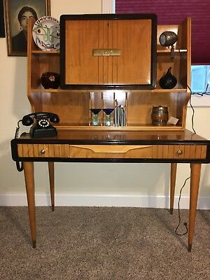 MID CENTURY modern teak wood ITALIAN DESK OR BAR CIRCA 1950'S EXCELLENT