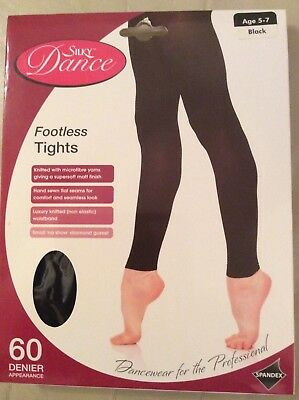 Silky Footless dance tights childrens and adults  black or tan post free