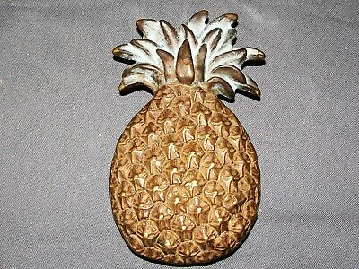 Vintage Solid Brass Pineapple Door Knocker Beach Tropical Welcome Decor 6""