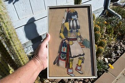 old Newport Beach Estate  vintage long haired kachina  drawing