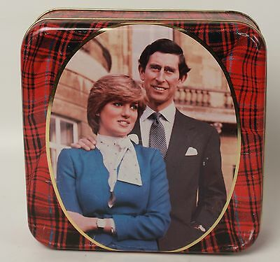 Charles and Diana Commemorative Engagement Tin Metal 1981 Walker's