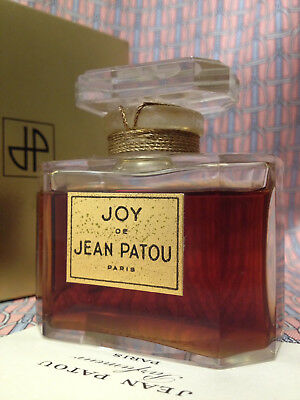 Vintage MID-CENTURY Jean Patou Joy HUGE 2 oz 60 ml Parfum Extrait CRYSTAL Boxed