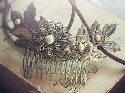 Brand New Gorgeous GILDED BUTTERFLIES Vintage Style Handmade Bridal Hair Comb